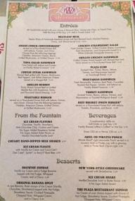 plaza menu